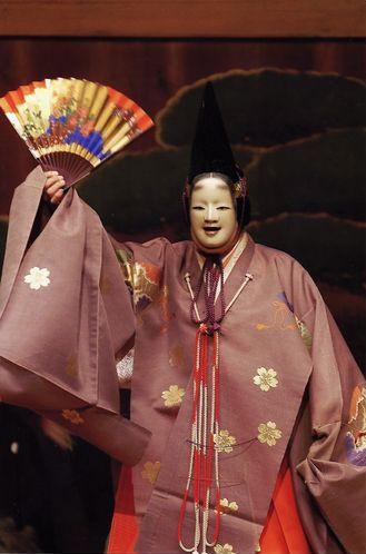 "Noh: ""Genji kuyō"". Shite: Udaka Michishige"