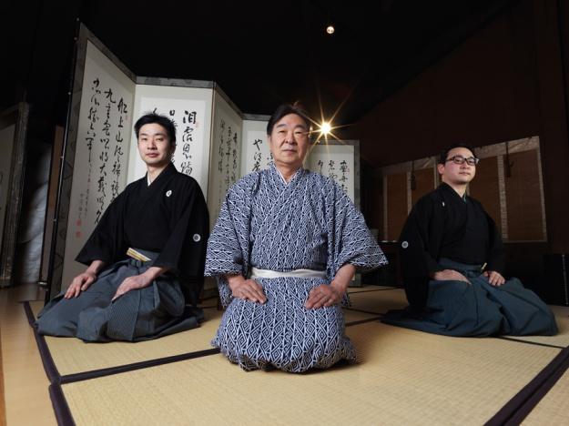 Udaka Michishige, Tatsushige, Norishige. Photograph: Irwin Wong.