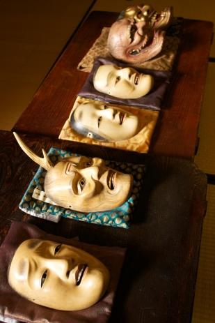 Udaka Michishige's Noh masks