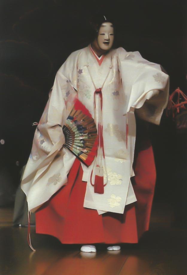 Noh: Uneme. Shite: Udaka Michishige. Mask: Magojiro, by Udaka Michishige. Photograph: Harada Shichikan.